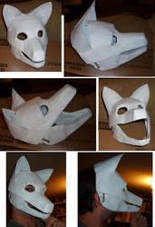 wolf mask progress by Merkindesr