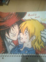 alucard and seras by xxxsad-angelxxx