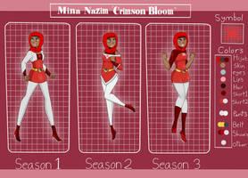 Legion of Superheroes oc: Crimson bloom Ref by lemonadkitera33