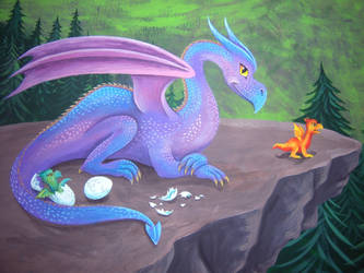 Fantasy Mural 4 by Nevuela