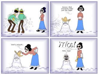 Snowman ~ A Coco Comic by Nevuela