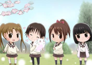 Girls from Tamayura by Momotsuki