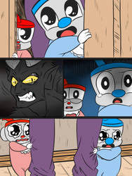 Cuphead and mugman baby by naruto-warriors-oc