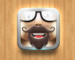 beard and mustache ios icon by sky-seeker
