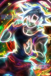 Neon Ultra Instinct Goku by lovelybendy