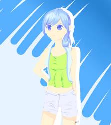 Summer Time Katelyn by LazyRainbowUni