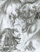 Glorfindel VS the Balrog by Vrolokya