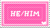HE/HIM STAMP by toucanburger