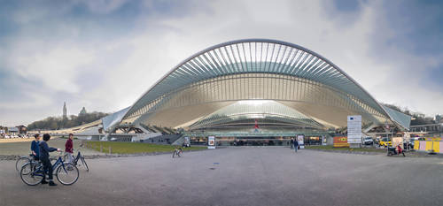 Panorama Liege Guillemins Train station by eVolutionZ