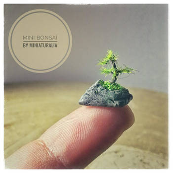 Mini bonsai polymer clay by eVolutionZ