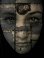 Sad robot face by VampirFan
