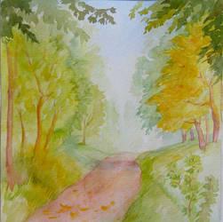 Fleeting Outline Of Autumn by yellika