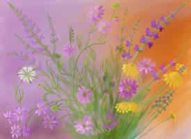 June meadow flowers by yellika