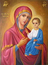 Icon of the Virgin Mary Iverskaya by yellika