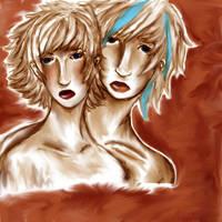 BLue and CAsper by ichigo-ai