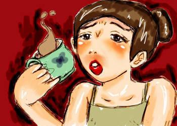 Tea Burn by ichigo-ai