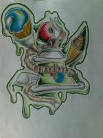 graffiti tattoo by kuyajay