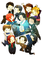 New Who Characters by iBrielle