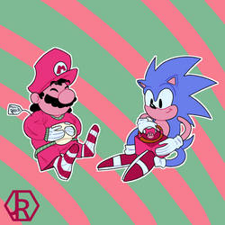 Mario and Sonic's Christmas by JR-Jayquaza