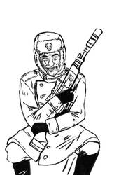 Valhallan Ice Warrior - Valentin the Mad by Gvozdi