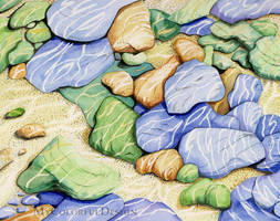 River Stones by Alina-Kurbiel