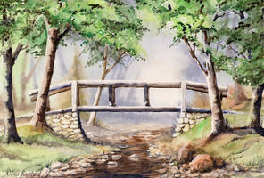 Lost River's Bridge by Alina-Kurbiel