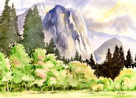 Yosemite Valley by Alina-Kurbiel