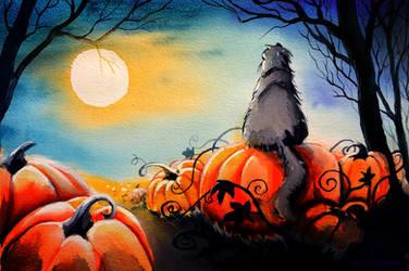 Halloween Cat by Alina-Kurbiel