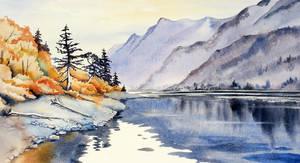 St. Mary Lake by Alina-Kurbiel