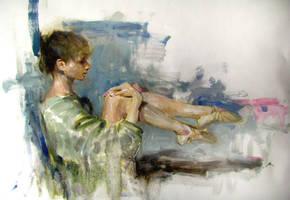 morning sketch:balerina by alrasyid