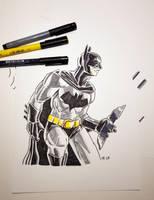 Batman PITT Pen Sketch by spacehamster