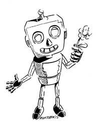Inktober 2017, Day 17: Robot Emoji by spacehamster