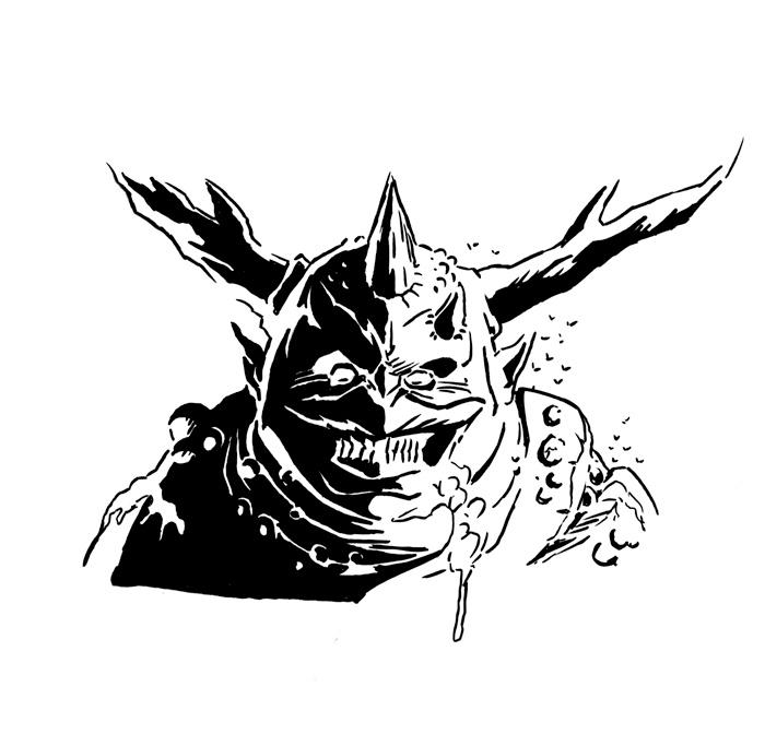 Inktober 2018, Day 7: The Great Unclean One by spacehamster