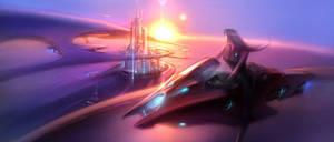 Futuristic City by cklum