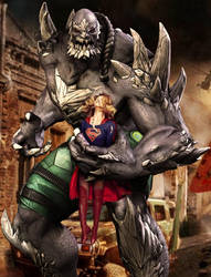 Supergirl vs Doomsday by Tormentor-X