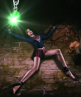 Supergirl is held captive by Tormentor-X