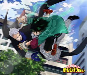 My hero Academia Boku no hero 176 Deku vs Gentle by Amanomoon
