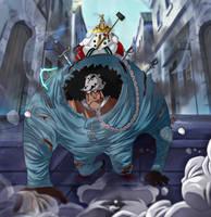 One Piece 908 Kuma Tenryubito slave Bonney Sad by Amanomoon