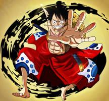 One Piece 916 Luffy Tarou Wano Kuni Anime Manga by Amanomoon