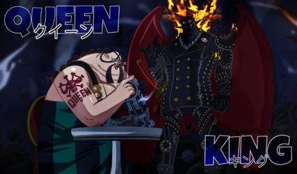 One Piece 925 King Wildfire Queen the plague Kaido by Amanomoon