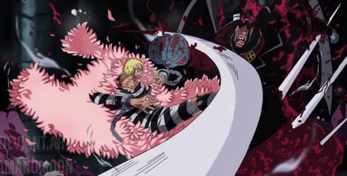 One Piece Doflamingo  Magellan Escape Impel Down  by Amanomoon