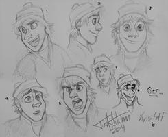 Kristoff Sketchdump by JustAutumn
