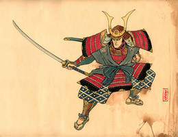 Samurai Ukiyo-e style by martinorona