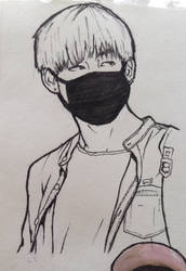 V from bts sketch by Lipzi664