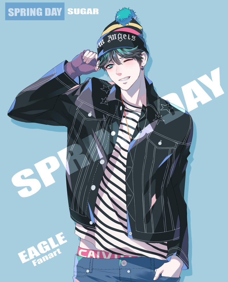 BTS-Fan art Suga by eagleDB