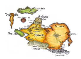 Map of Arvanor by hookline-dreamer