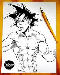 Goku in my version INKTOBER by Yayometro