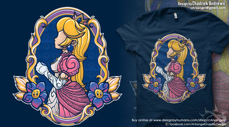 [Shirt] Stained-Glass Peach by cArxangel
