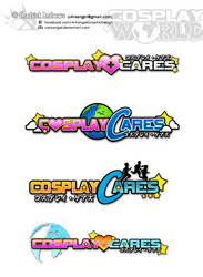 [Logo] Cosplay+Cares - Logo Mockups by cArxangel