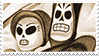 Grim Fandango stamp: Manny and Meche by RussianRatigan